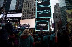 Высказывание против наркотиков в самом центре Нью-Йорка » Информационное агентство МАНГАЗЕЯ
